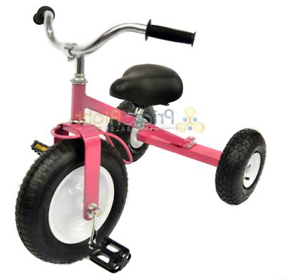 Pink Tricycle Set Pull Toy Outdoors Exercise Valley