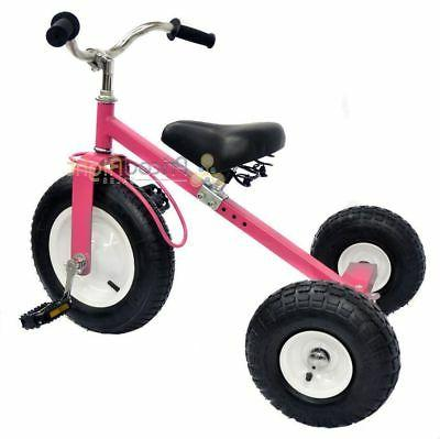 Pink Tricycle Set Toy Outdoors Exercise Valley