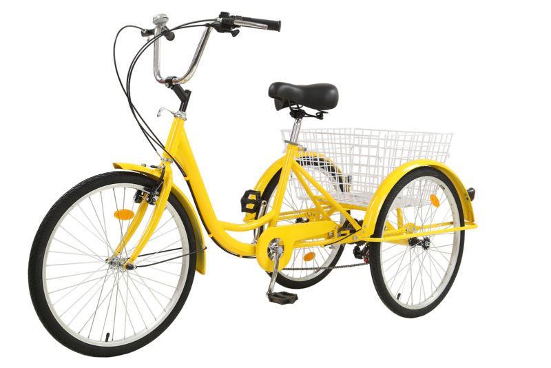 """26""""/24""""/20"""" 7 Speed Adult Trike 3 Bike Shopping NEW"""