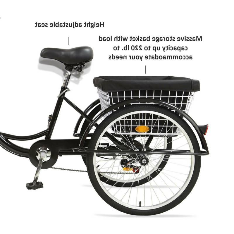 """Pro 24""""/20"""" Speed Adult Tricycle 3-Wheel Bike for USA"""