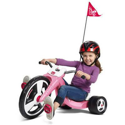 Kids Tricycle Front Wheel Adjustable Sports Pink