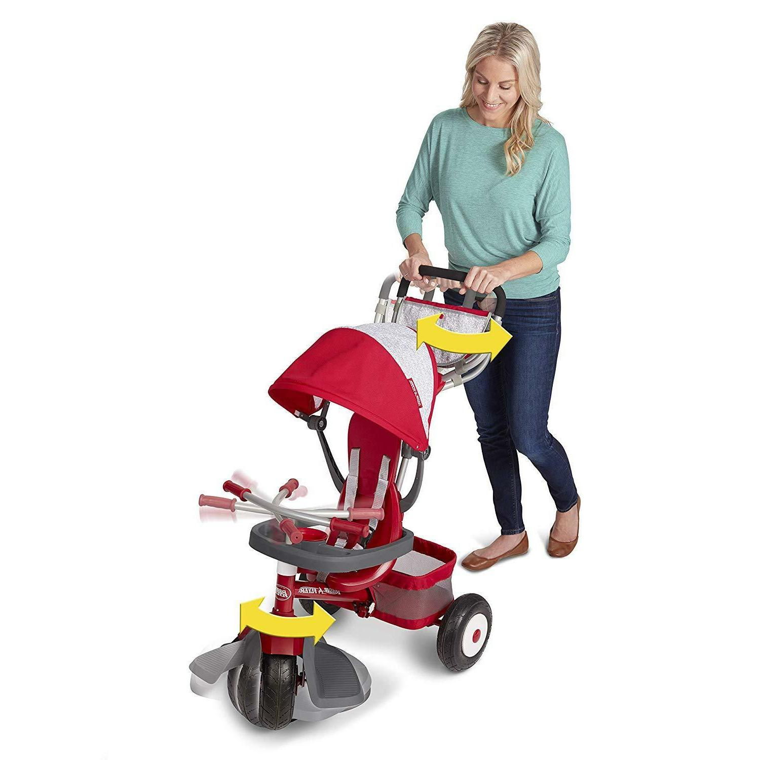 Radio Flyer All-Terrain Stroll 'N Red