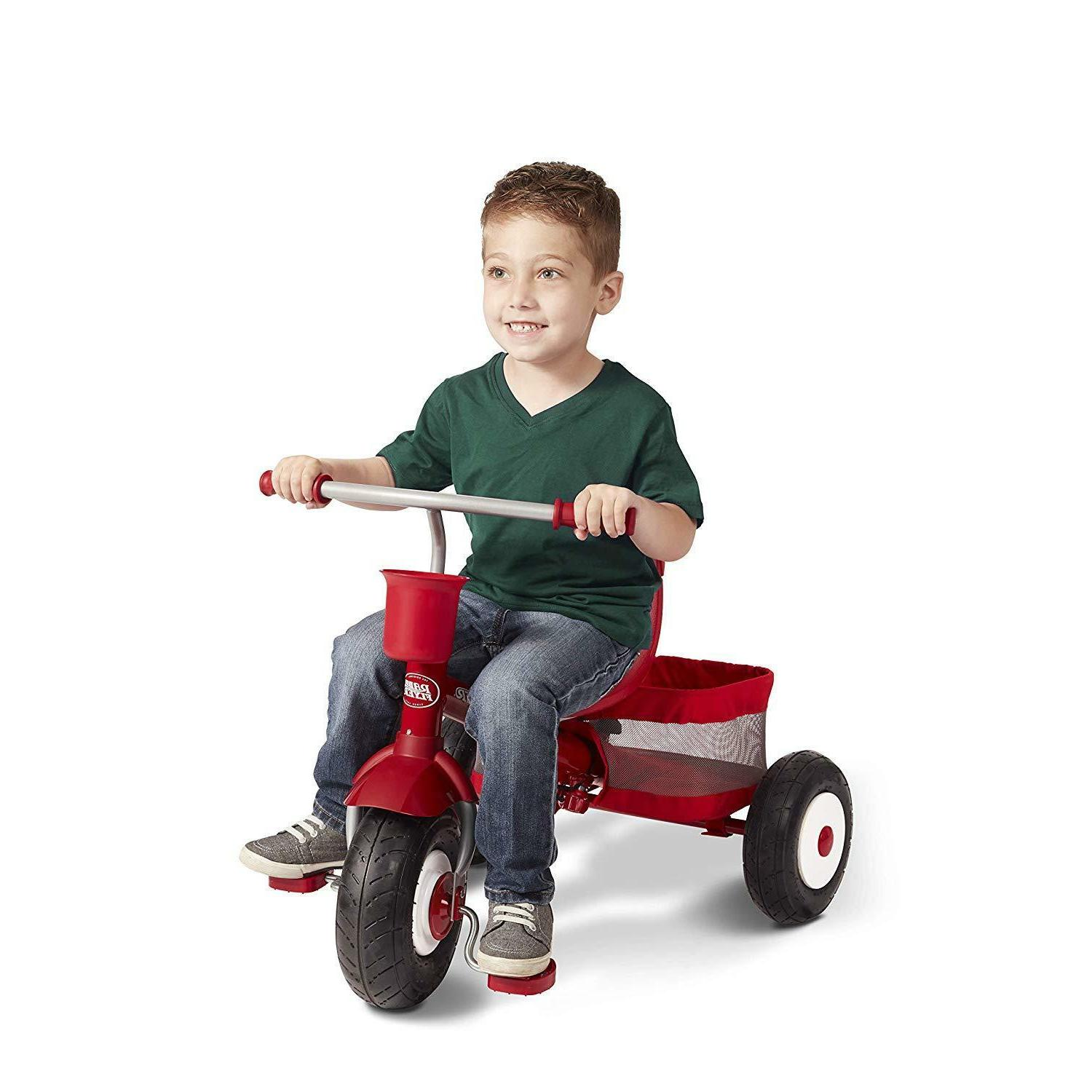Radio Flyer Ultimate All-Terrain Stroll Trike, Red