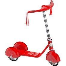 Morgan Cycle Retro Scooter, Red, 1 ea