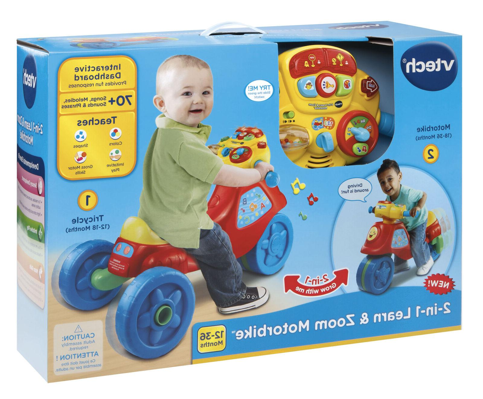 VTech In Learn Zoom Motorbike Riding Year Old Toy