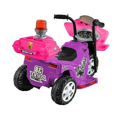 Ride On Tricycle Battery Kid Purple/Pink With