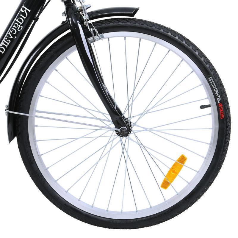 Adult 3-Wheel Trike Bicycle 7-Speed Bike Black