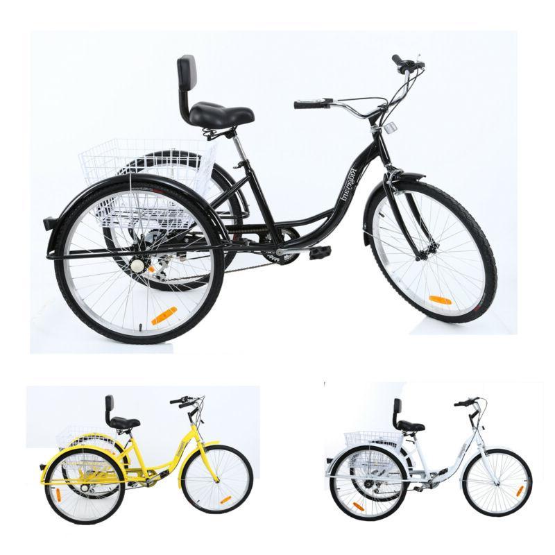 7-Speed 3-Wheel Tricycle Trike Basket Ridgeyard