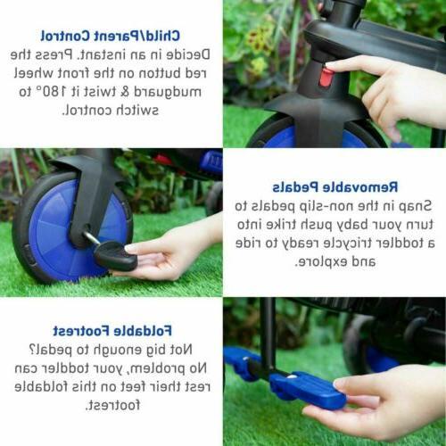 smarTrike 5 in Folding Baby Smart -Blue