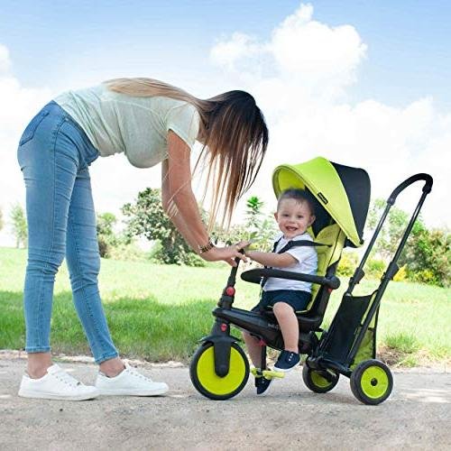 smarTrike Smartfold Baby Tricycle, Green