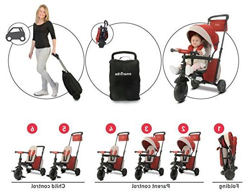 smarTrike Smartfold Baby Tricycle, Red
