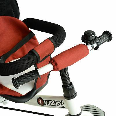 Qaba 2-in-1 On Tricycle Push Red