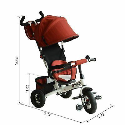 On Tricycle Stroller Push Red