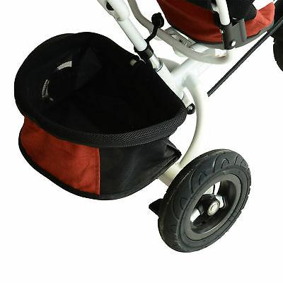Qaba On Tricycle Trike Push Toddler Steel Red