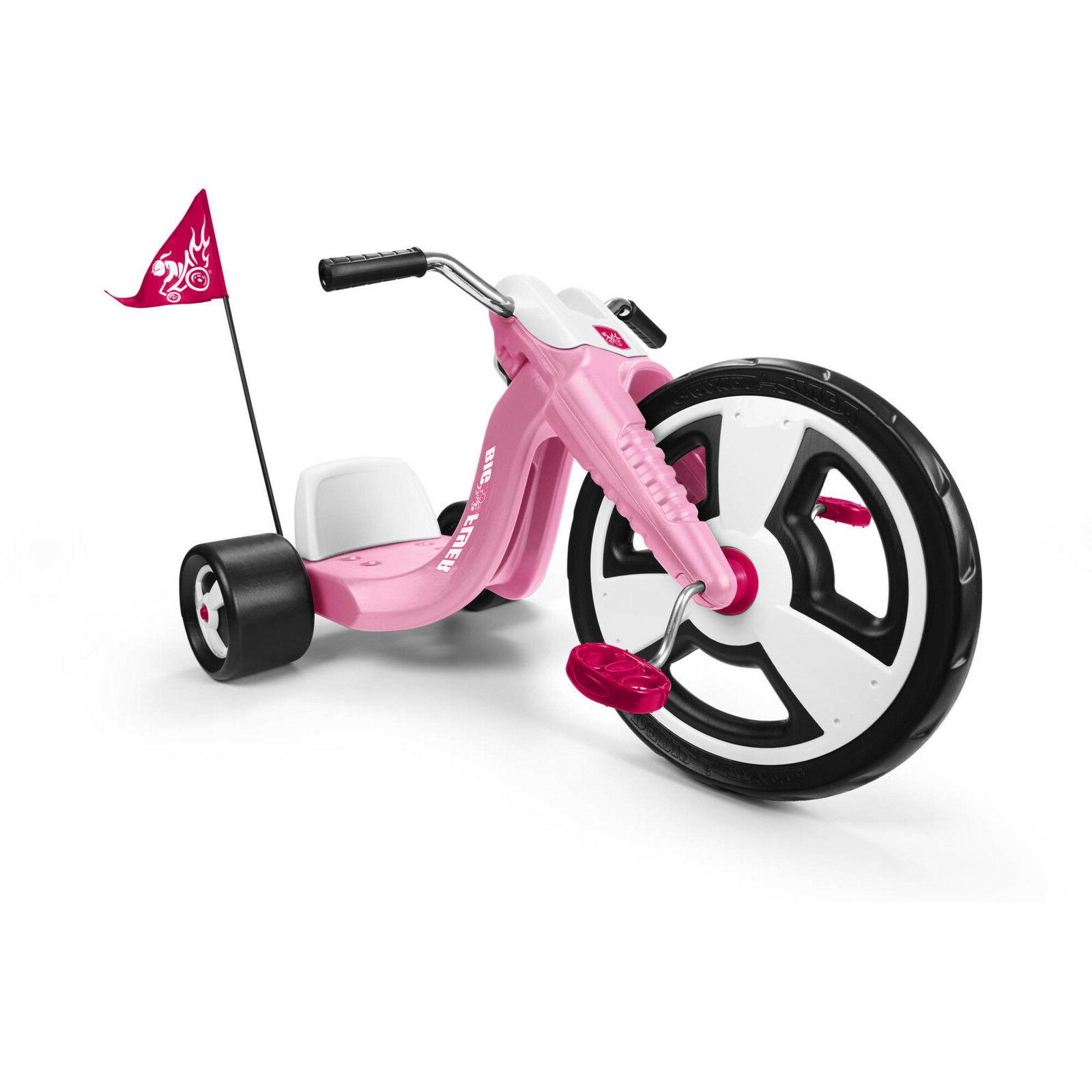 Kids Big Tricycle Front Adjustable Seat Sports Toy Pink
