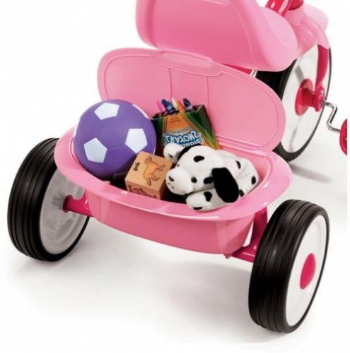 Tricycle Kids Radio Pink Folding Toddler Ride Child Toy Kid