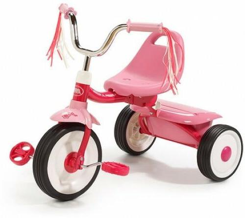 tricycle kids bike vintage pink folding toddler