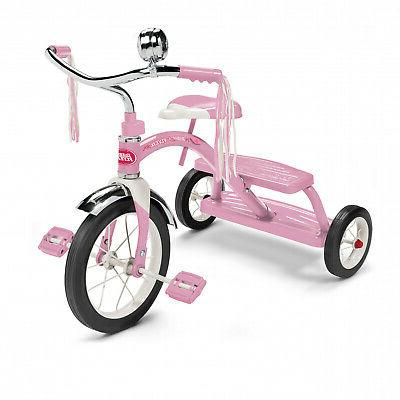 """CLASSIC PINK TRICYCLE GIRLS RETRO TRIKE CHILDREN TOY 12"""" WHE"""