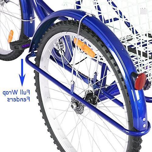 Goplus Tricycle Trike w/Large Recreation, Women's Bike
