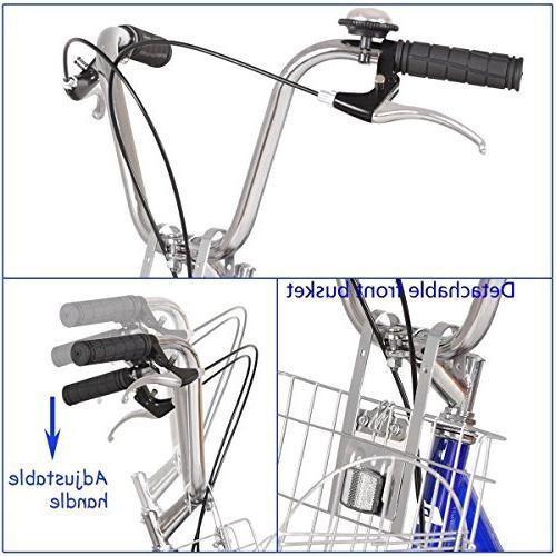 Goplus Adult Cruise Bike w/Large Basket Recreation, Shopping, Women's