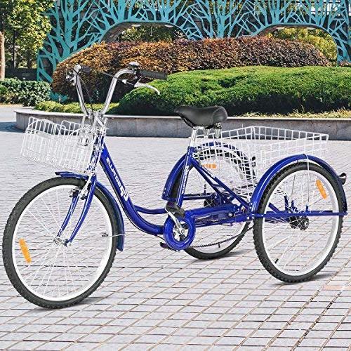 Goplus Adult Cruise Bike w/Large Recreation, Shopping, Women's Bike