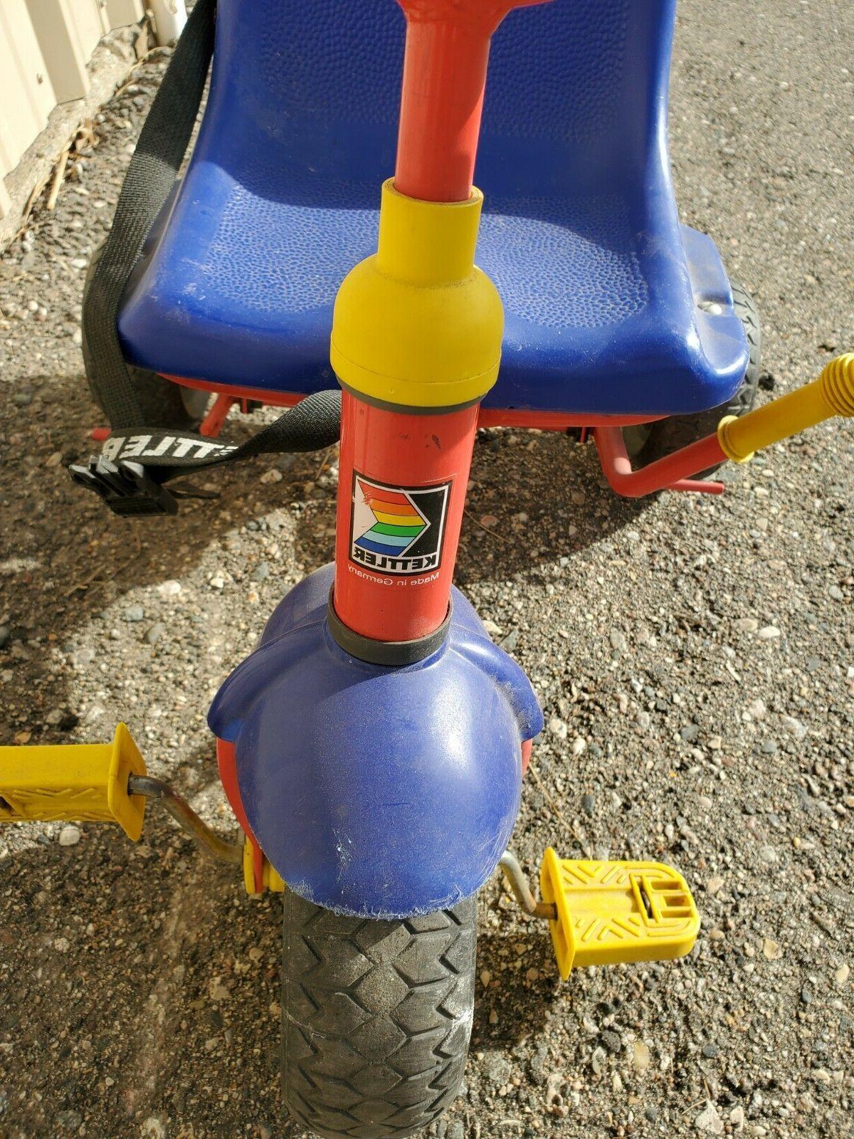 Kettler Tricycle Trike Removable Push Handle Toddler Basket