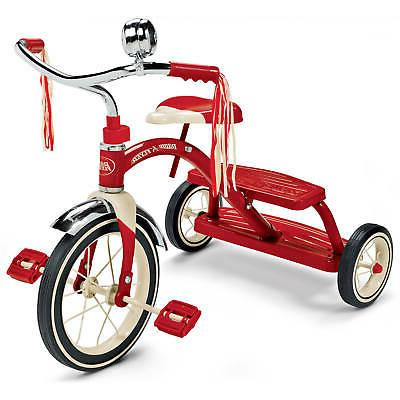 """Radio Flyer, Classic Red Dual Deck Tricycle, 12"""" Front Wheel"""