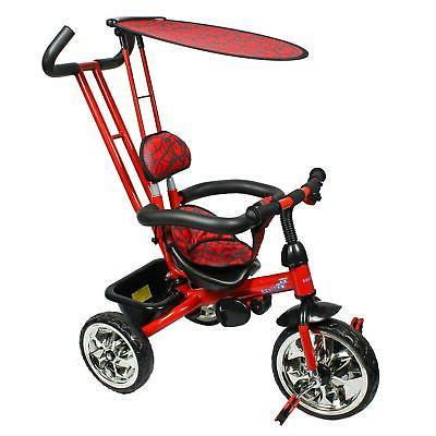 trike with push bar and flat canopy