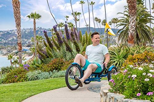 Mobo Recumbent Pedal Bicycle. Adaptive Tricycle Teens Seniors