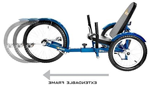 Mobo Recumbent Pedal Bicycle. Adaptive