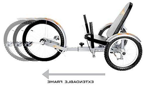 Mobo Pro Recumbent Tricycle for Men Women. 3-Wheeled Bike. Lowrider