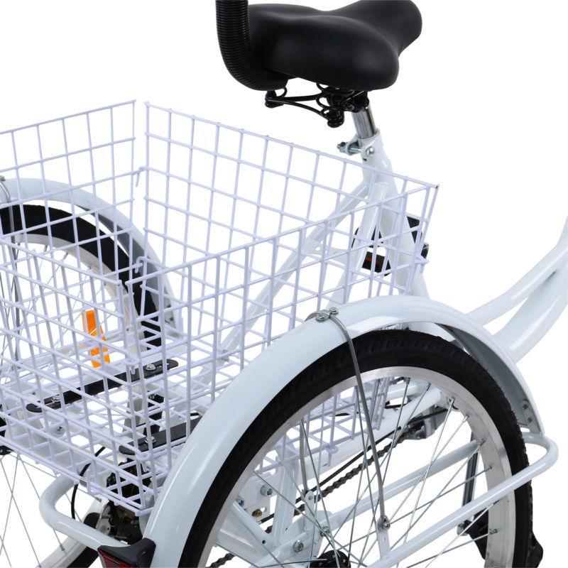 """Ridgeyard 24"""" Adult 3-Wheel Bicycle Trike Cruiser"""