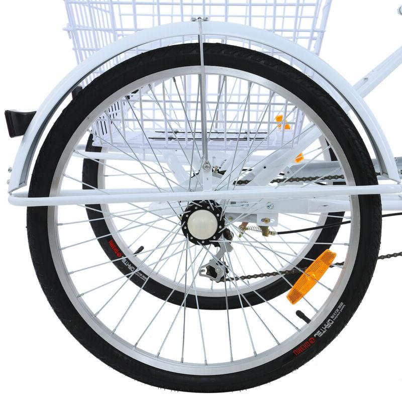 White 3-Wheel Trike Cruiser