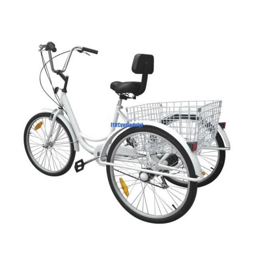 White Adult Bicycle Cruise