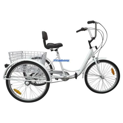 White 3-Wheel Adult Bicycle Cruise