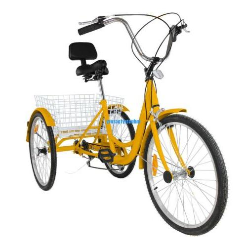 Yellow Wheel Bicycle Tricycle Cruise