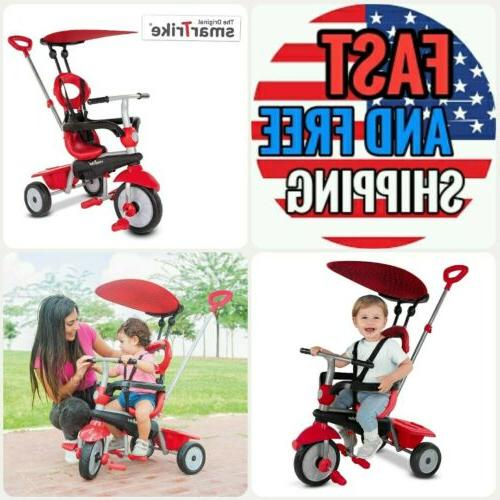 zoom 4 in 1 baby tricycle red