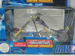 LOS ANGELES LAKERS LA OCC CHOPPER MOTORCYCLE BIKE 1:18 SCALE