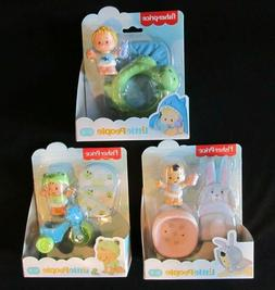 Lot of 3 Fisher Price Little People Baby Bundle 'n Play Tric