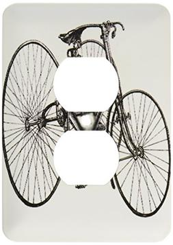 """3dRose LSP_41549_6""""Vintage Tricycle for Grownups 2 Plug Outl"""