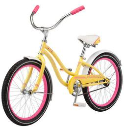 "Schwinn Girls Maddy Cruiser Bicycle, 20"" Wheel, Yellow"