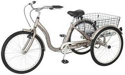Meridian 26 Single Speed Tricycle - Color: Dark Silver