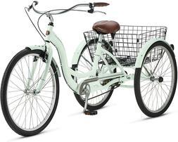 "Schwinn Meridian 26"" Tricycle Bicycle - Mint Green - Free Lo"