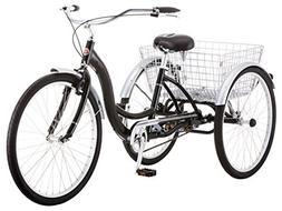 Schwinn Meridian Adult Tricycle, 26-Inch Wheels, Black
