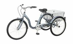 Schwinn Meridian Adult Tricycle 24-inch Wheels Slate Blue
