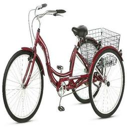 Schwinn Meridian Adult Tricycle, 26-inch wheels, rear storag