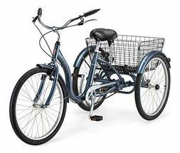 Schwinn Meridian Adult Tricycle with 24-Inch Wheels in Slate
