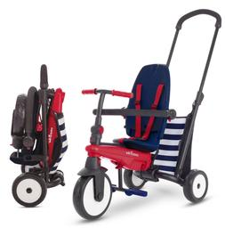 Navy 5-in-1 Toddlers Folding Tricycle 10-36 Months Baby Bike