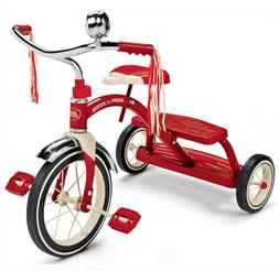 """NEW Radio Flyer, Classic Red Dual Deck Tricycle, 12"""" Front W"""