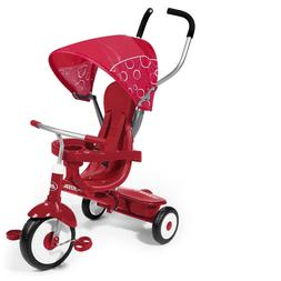 Radio Flyer New Deluxe Red Tricycle Stroller Ride 4 In 1 Str